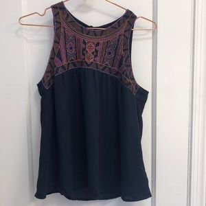 Forever 21 Navy Sleeveless Top